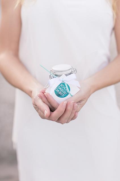Gastgeschenk Idee für Hochzeit, Badesalz