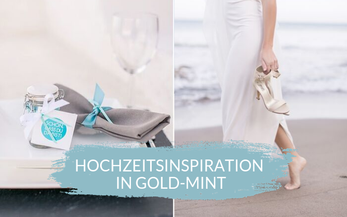 Wedding inspiration gold and mint