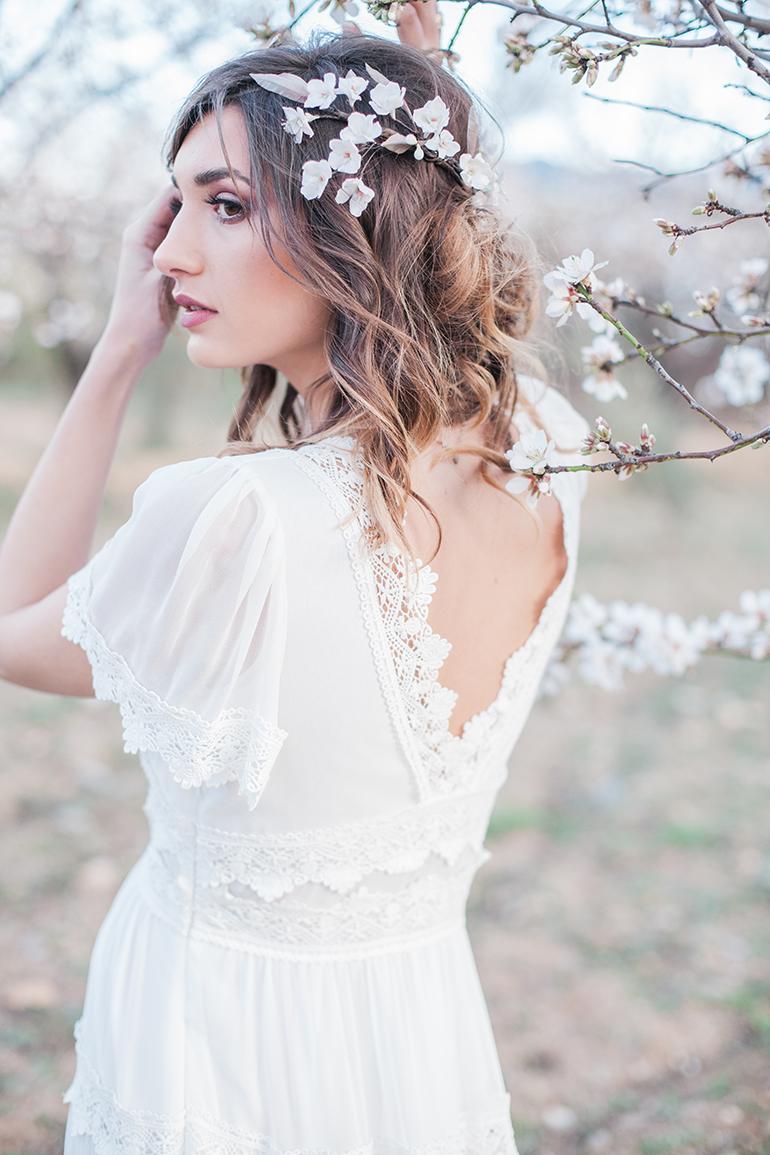 Hochzeit zur Mandelblüte in Andalusien, Brautkleid