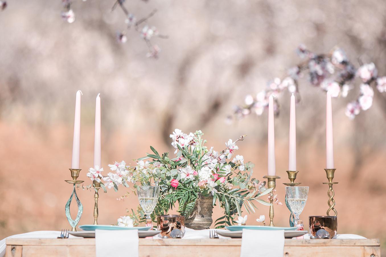 Tischdeko Idee Hochzeit