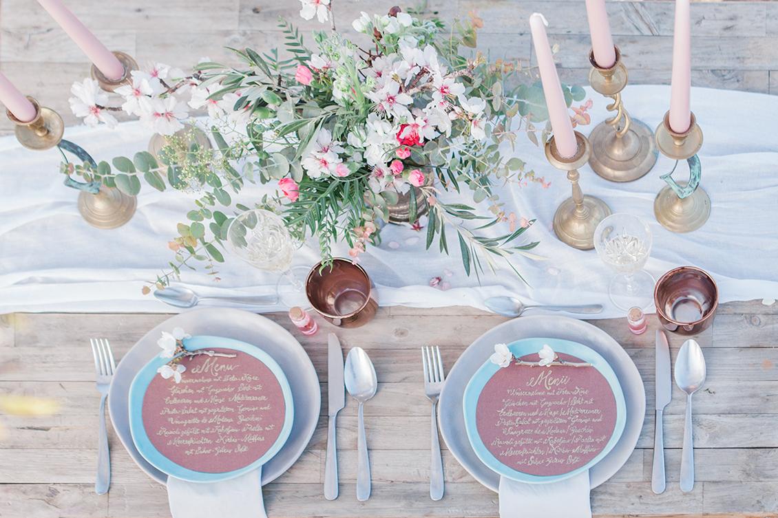 Hochzeit zur Mandelblüte in Andalusien, Tischdeko
