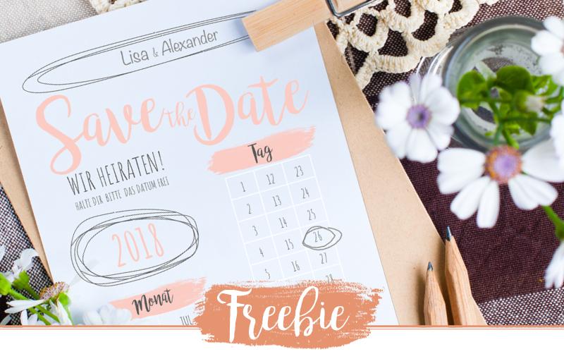 Freebie – Schlichte Save the Date Karten Vorlagen kostenlos zum ausdrucken