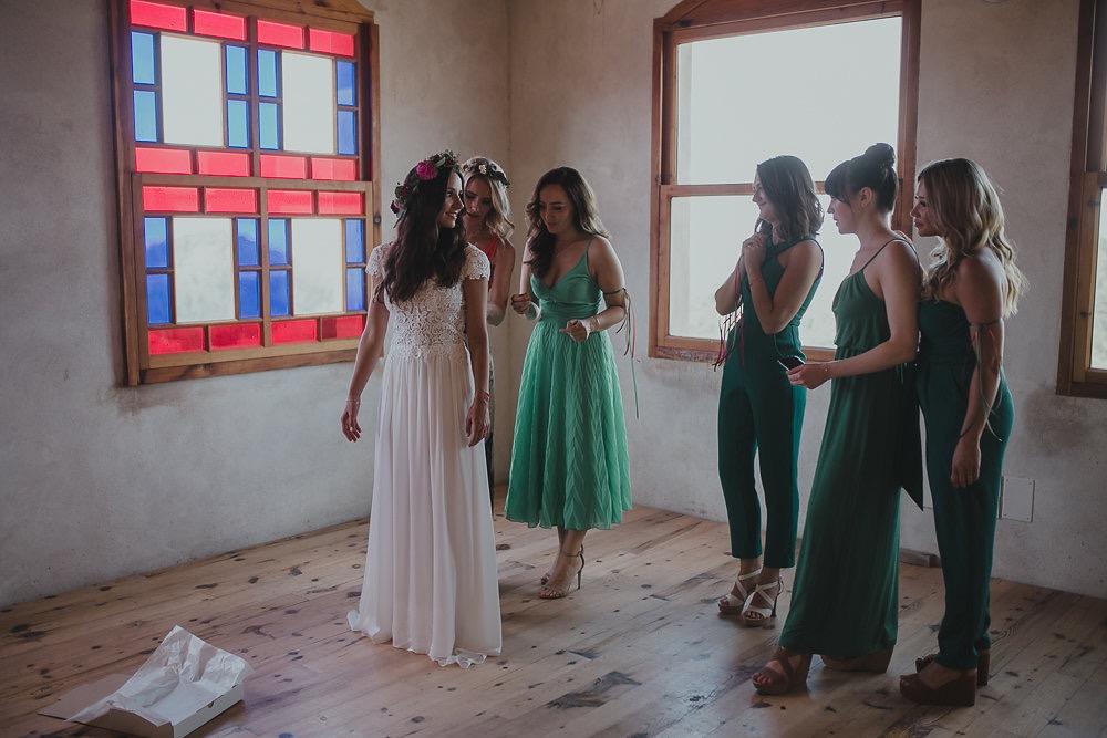 Festival boho Hochzeit, Boho Wedding Braut und Bridemaids