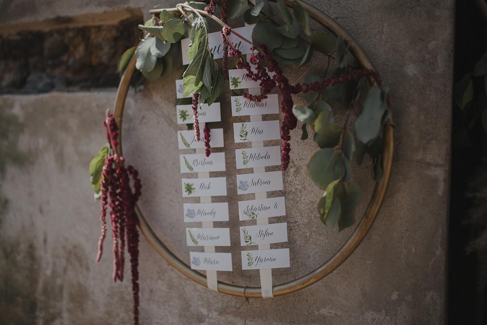 Festival boho Hochzeit, Boho Wedding aus Hulahups mit Eucalyptus