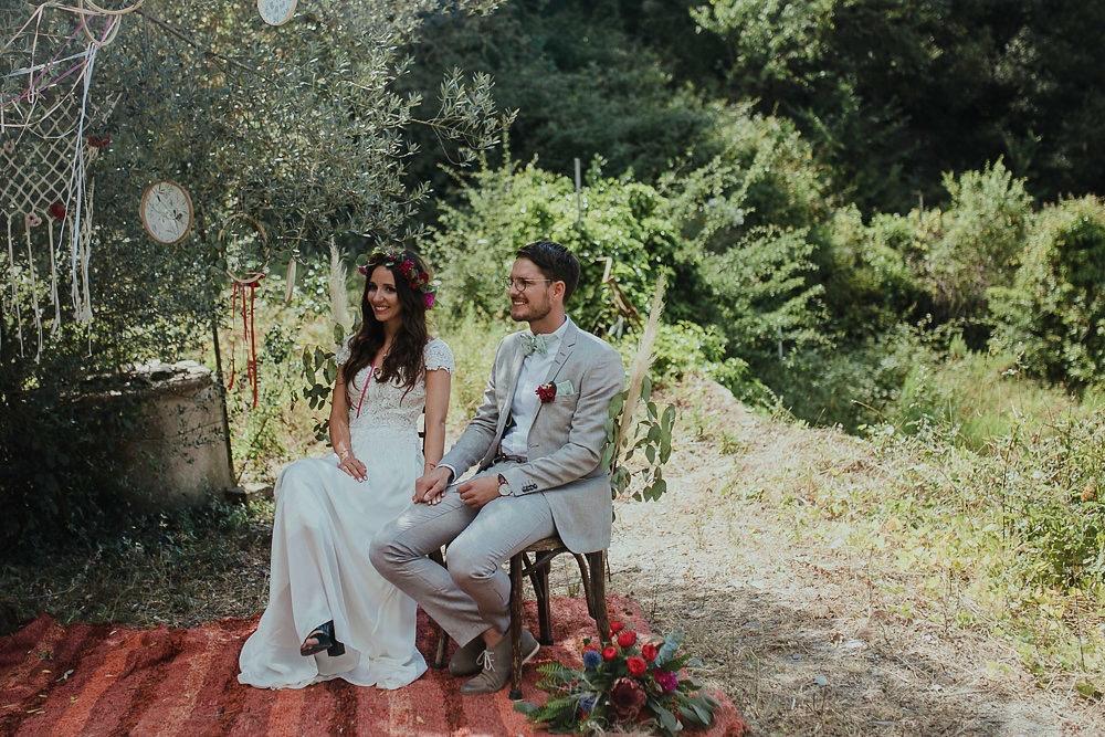 Festival boho Hochzeit, Boho Wedding freie Trauung unter einem Baum