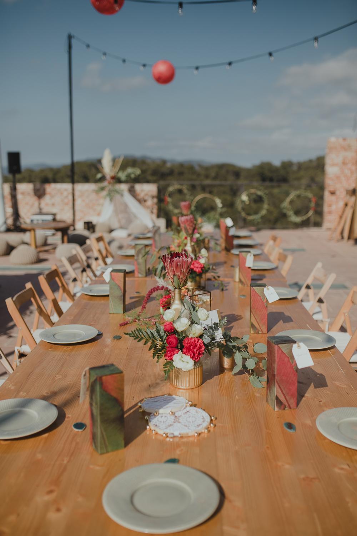 Festival boho Hochzeit, Boho Wedding Tischdeko