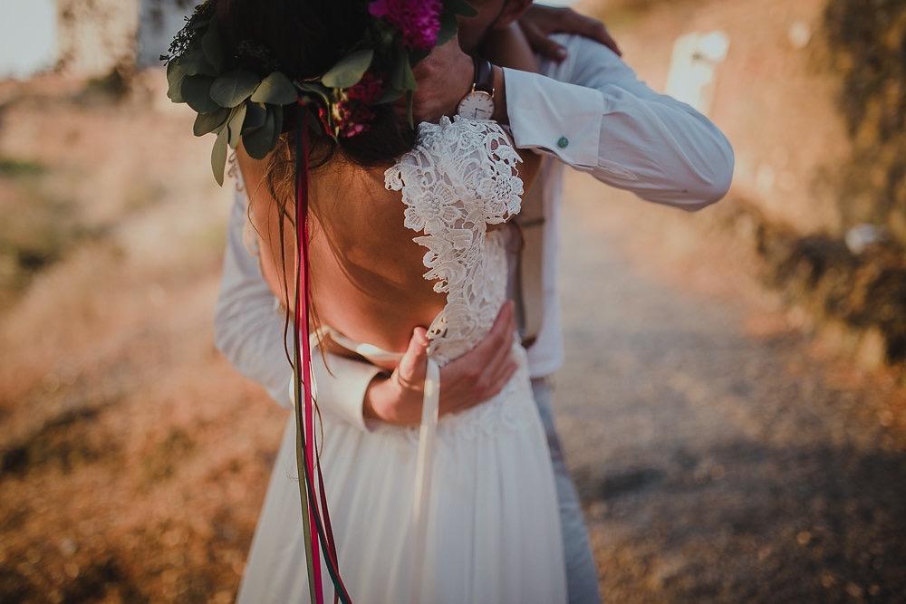 Festival boho Hochzeit, Boho Wedding Boho Brautkleid mit freiem Rücken