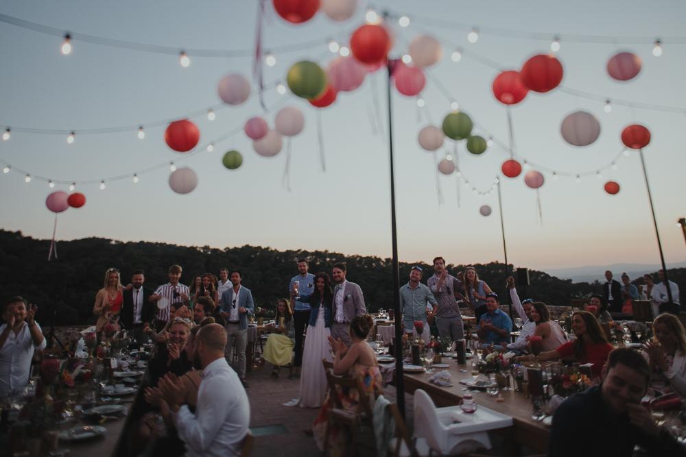 Festival boho Hochzeit, Boho Wedding Dekoration mit Lampions und Girlanden