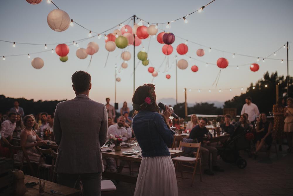 Festival boho Hochzeit, Boho Wedding Dekoration mit Lampions und Lichterketten