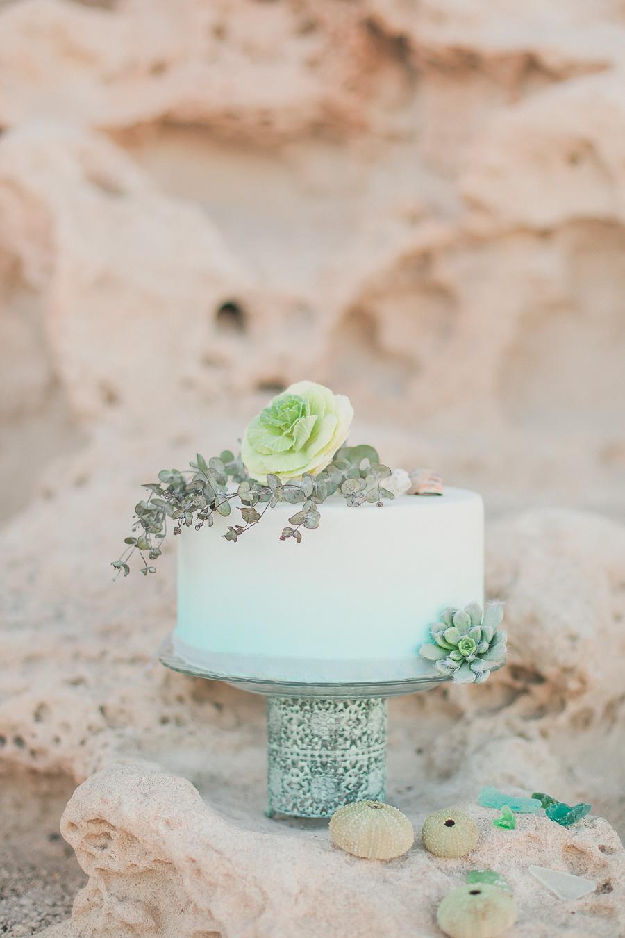 Hochzeitstorten Ideen Fondant mit Farbverlauf