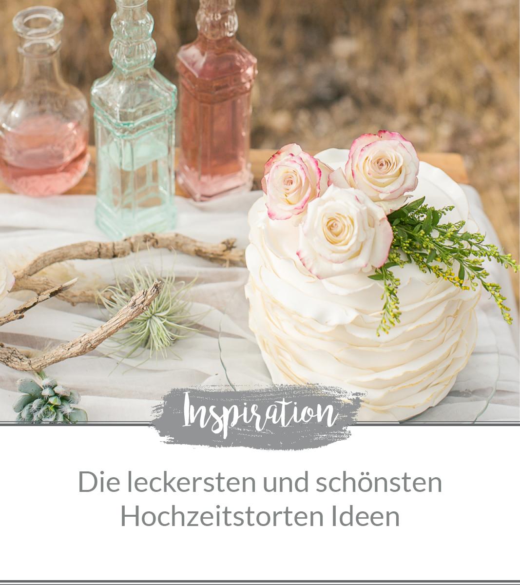 Hochzeitstorten Ideen. Ruffled Cake mit Goldrand