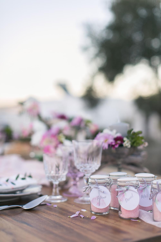 Hochzeit in Spanien, Gastgeschenke zur Hochzeit. Gastgeschenk Badesalz
