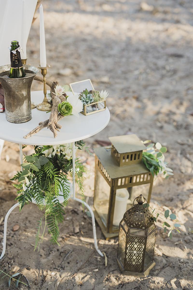Hochzeit freie Trauung am Strand Dekoration Altar