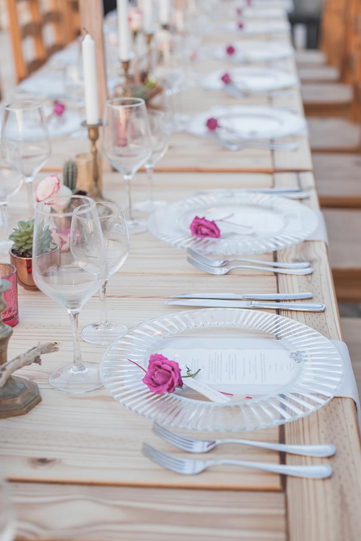 Tischdeko ideen für lange Tafeln