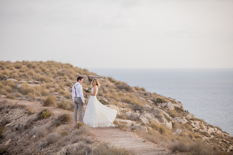 Festival Wedding in Spain – Kathi & Andi and a donkey as a visitor
