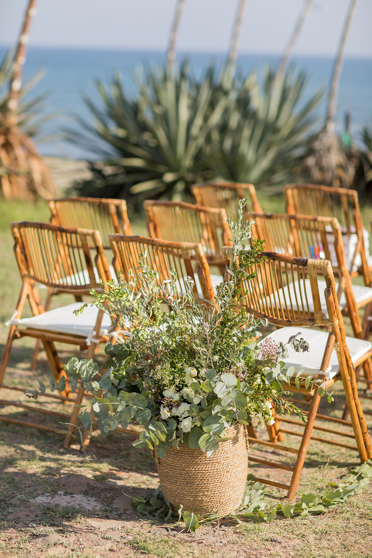 Hochzeitsdekoration Greenery Stuhldekoration
