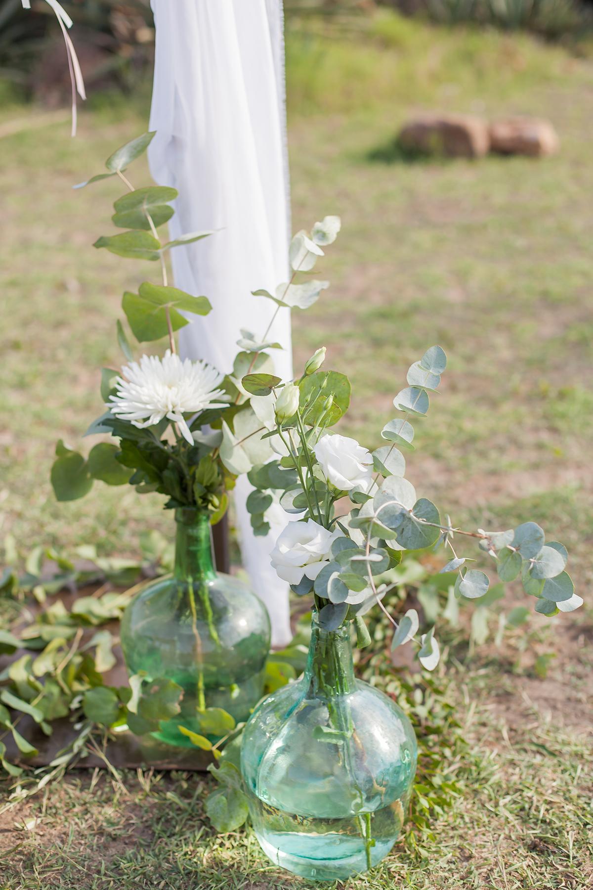 Blumendekoration Hochzeit, Zeremonie Dekoration