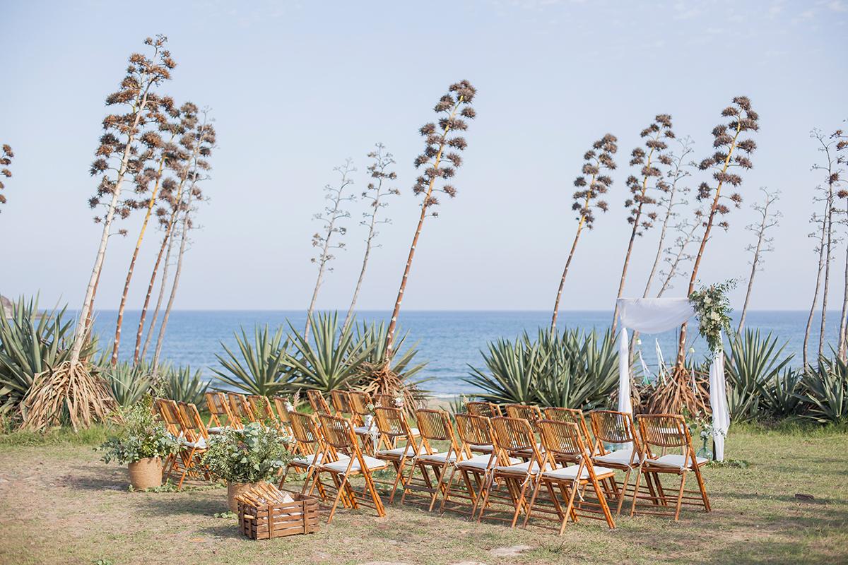 Hochzeit am Strand freie Trauung Dekoration