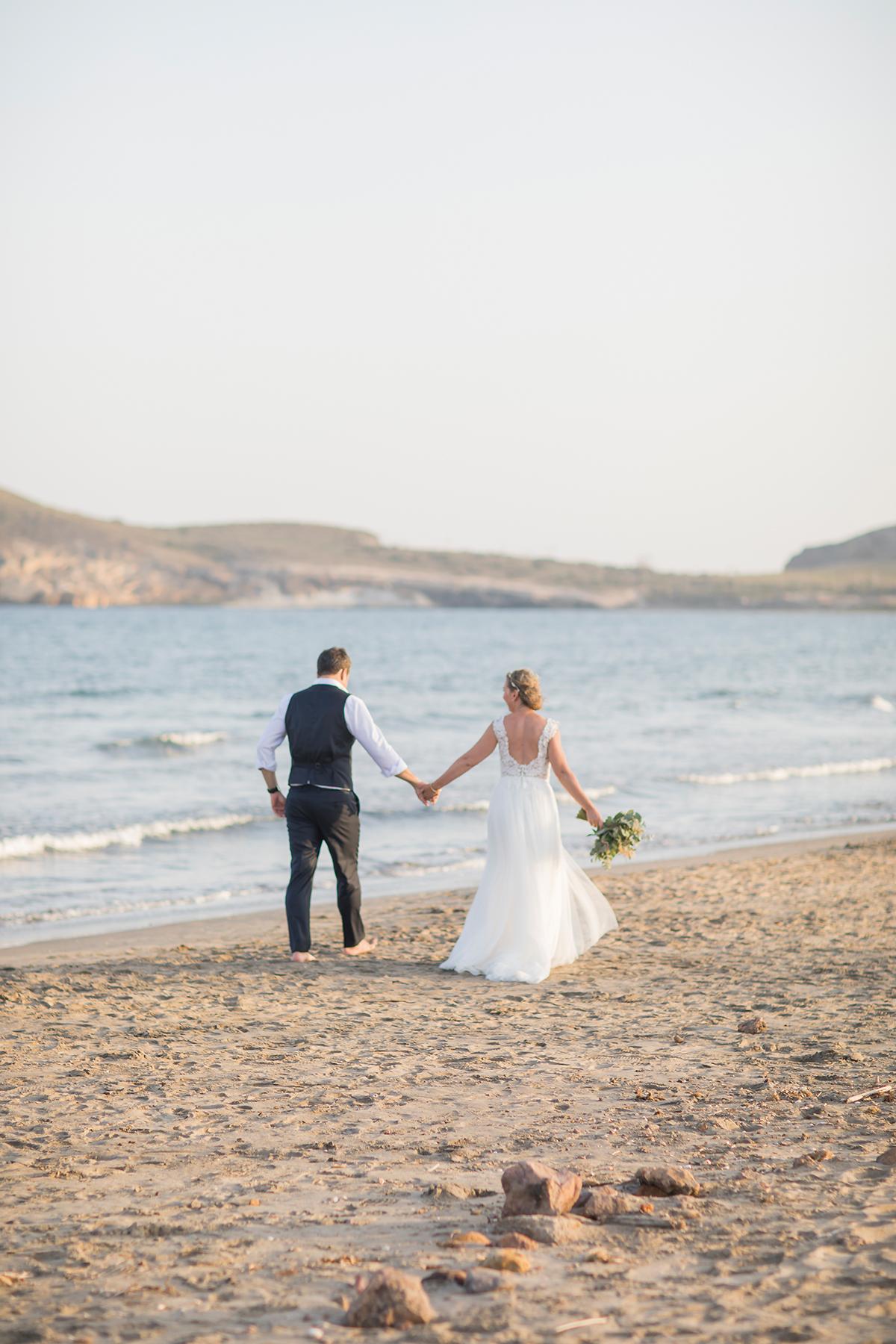 Hochzeit am Strand, Brautpaar Strand