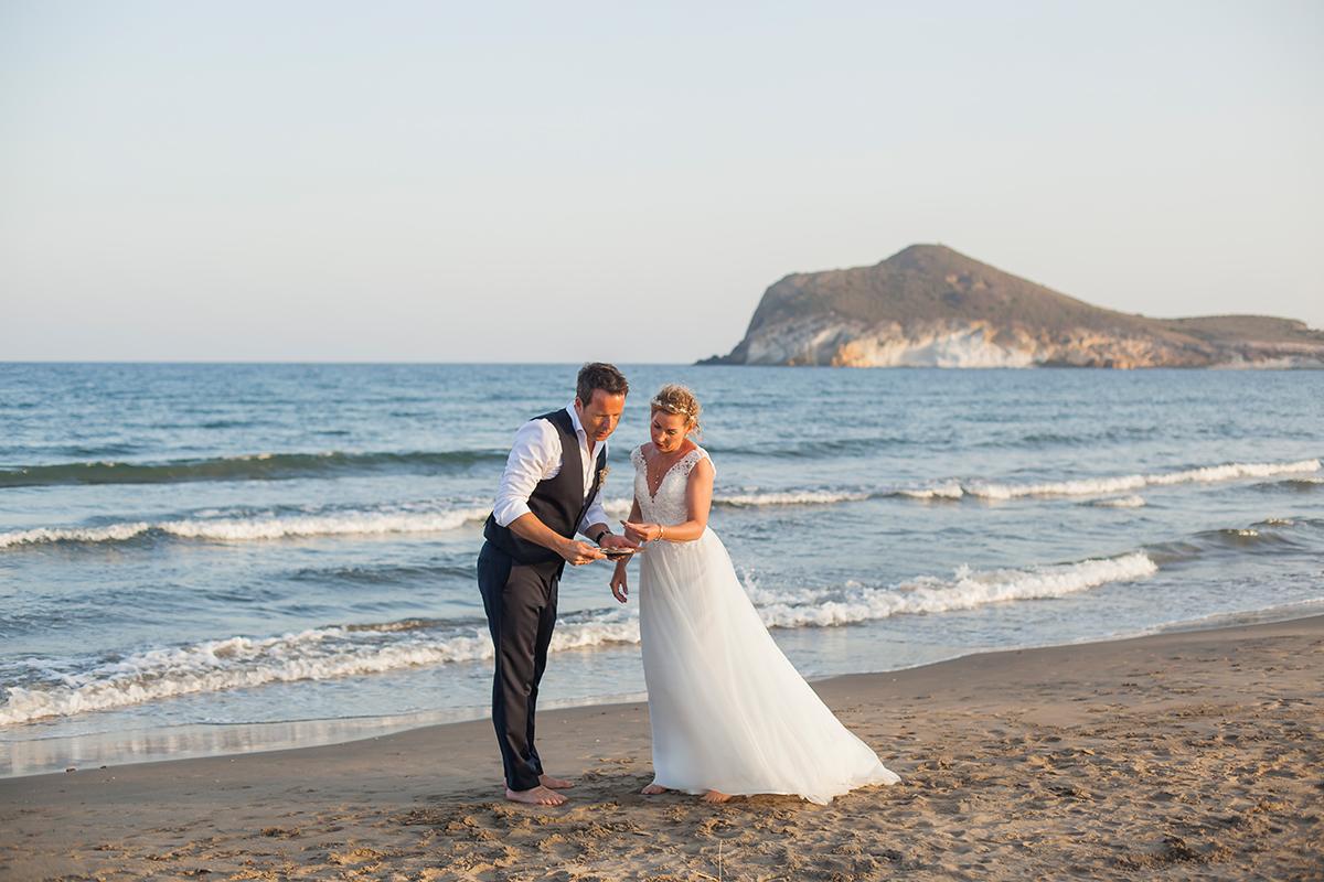 Heiraten am Strand, Brautpaar Strand