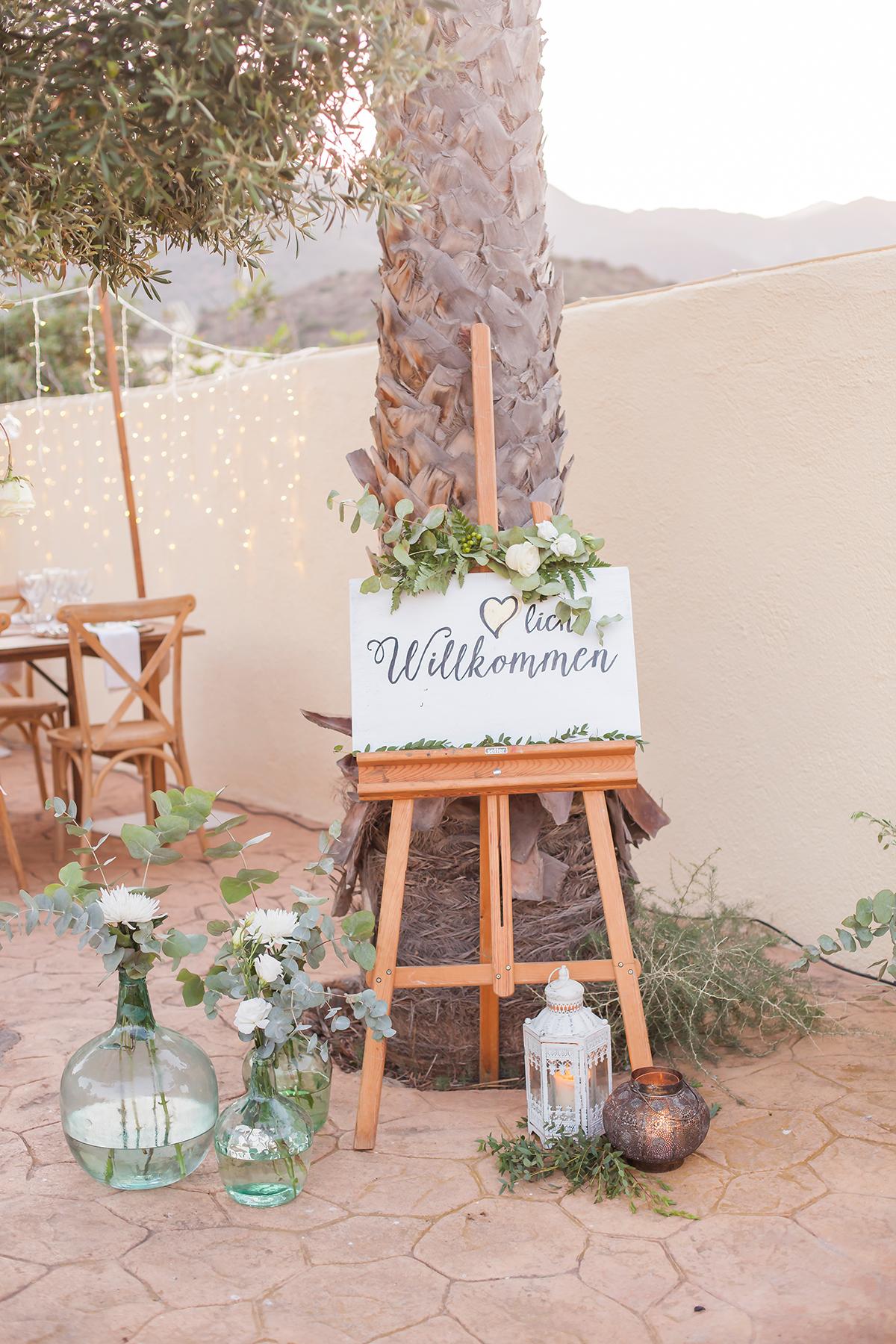 Hochzeit Schild Dekoration