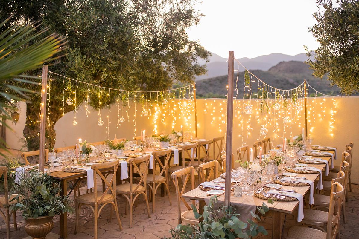 Hochzeit am Strand, Hochzeitlocation Dekoration, Tischdekoration