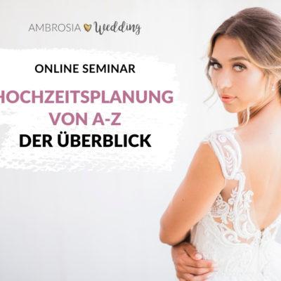 Hochzeit selber planen Übersicht